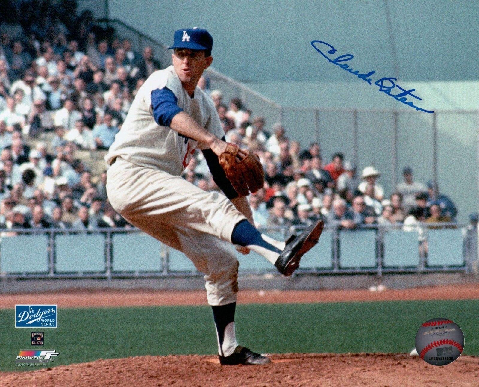 Claude Osteen Signed 8X10 Photo Autograph LA Dodgers Home Pitching Auto COA