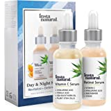 Retinol Serum - Anti Wrinkle Exfoliating Serum - Helps Reduce Appearance of Puffiness, Wrinkles, Crows Feet & Fine Lines - Fights Acne & Blemishes - Vitamin C & Hyaluronic Acid - InstaNatural - 1 oz