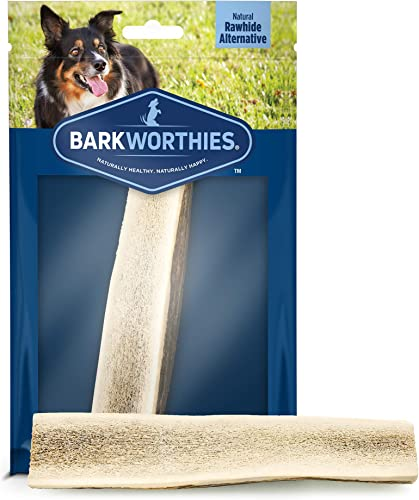Barkworthies Hand Selected, Naturally Shed Split Whole Elk Antlers – Premium Long Lasting, Odor Free Dog Chews for All Dog Sizes and Breeds – No Chemical Treatments, No Added Preservatives