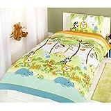 Jungle Boogie - Parure de lit pour enfant avec housse de couette et taie d'oreiller