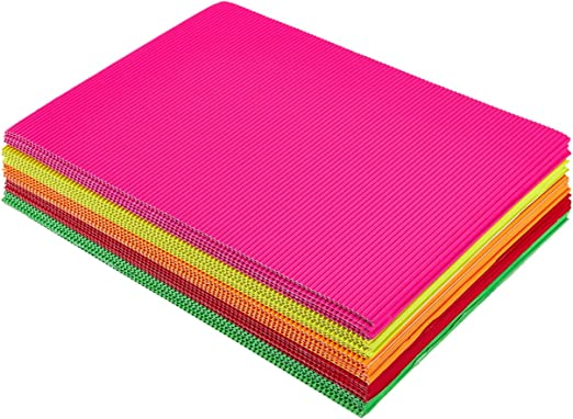 Amazon Com Juvale Corrugated Paper Sheets For Crafting 8 25 X 11 75 Inches 5 Colors 30 Pack