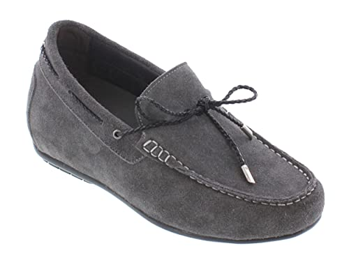 Y40107-3 inches Taller - height Increasing Elevator Shoes - Black Leather Slip-On Dress Shoes
