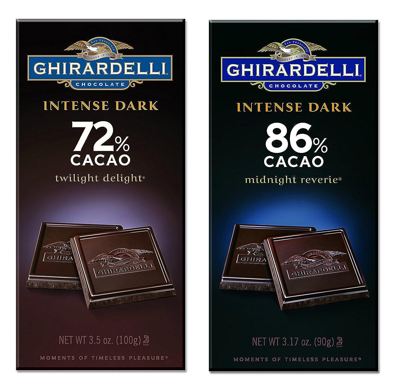 Amazon.com : Ghirardelli Chocolate Intense Dark Bar Bundle   One ...