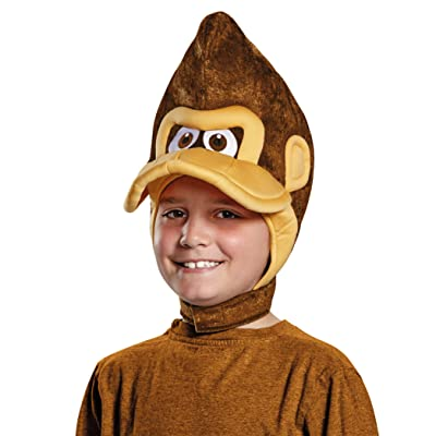 Donkey Kong Super Mario Bros. Nintendo Child Headpiece, One Size Child: Toys & Games