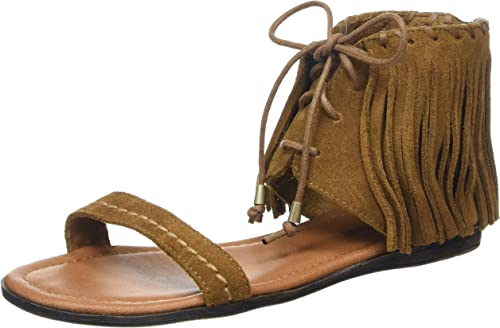 MINNETONKA  WOMEN/'s Leather Sandal