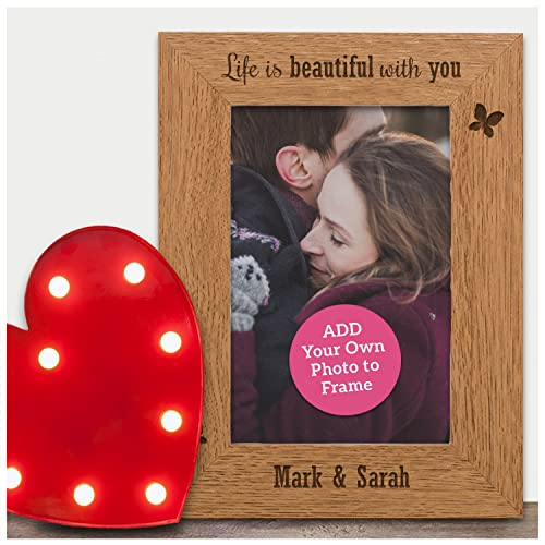 Personalised Engraved Photo Frame Gifts Valentines Day Presents