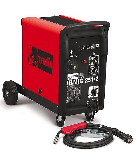 Soldador hilo continuo telmig 251/2 turbo Telwin Mig/Mag Gas- Cod.