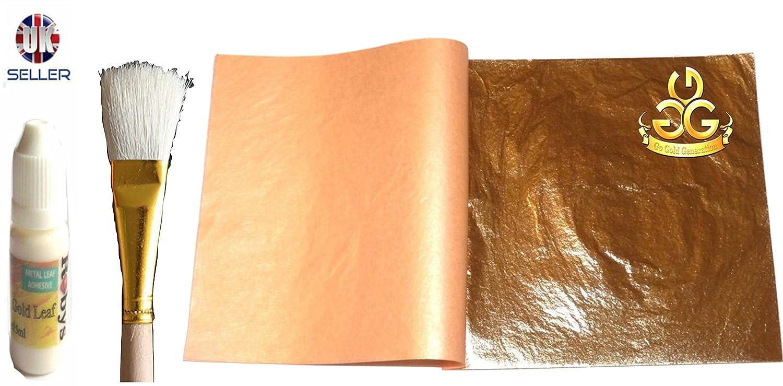 TOOGOO Gilding Craft 300 sheets 14x14cm Imitation Gold+Silver+Copper Leaf Gilding Art Craft DIY R
