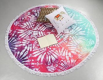 winthome con flecos diseño de toalla de playa (especial redondo Mandala playa manta - Toallas