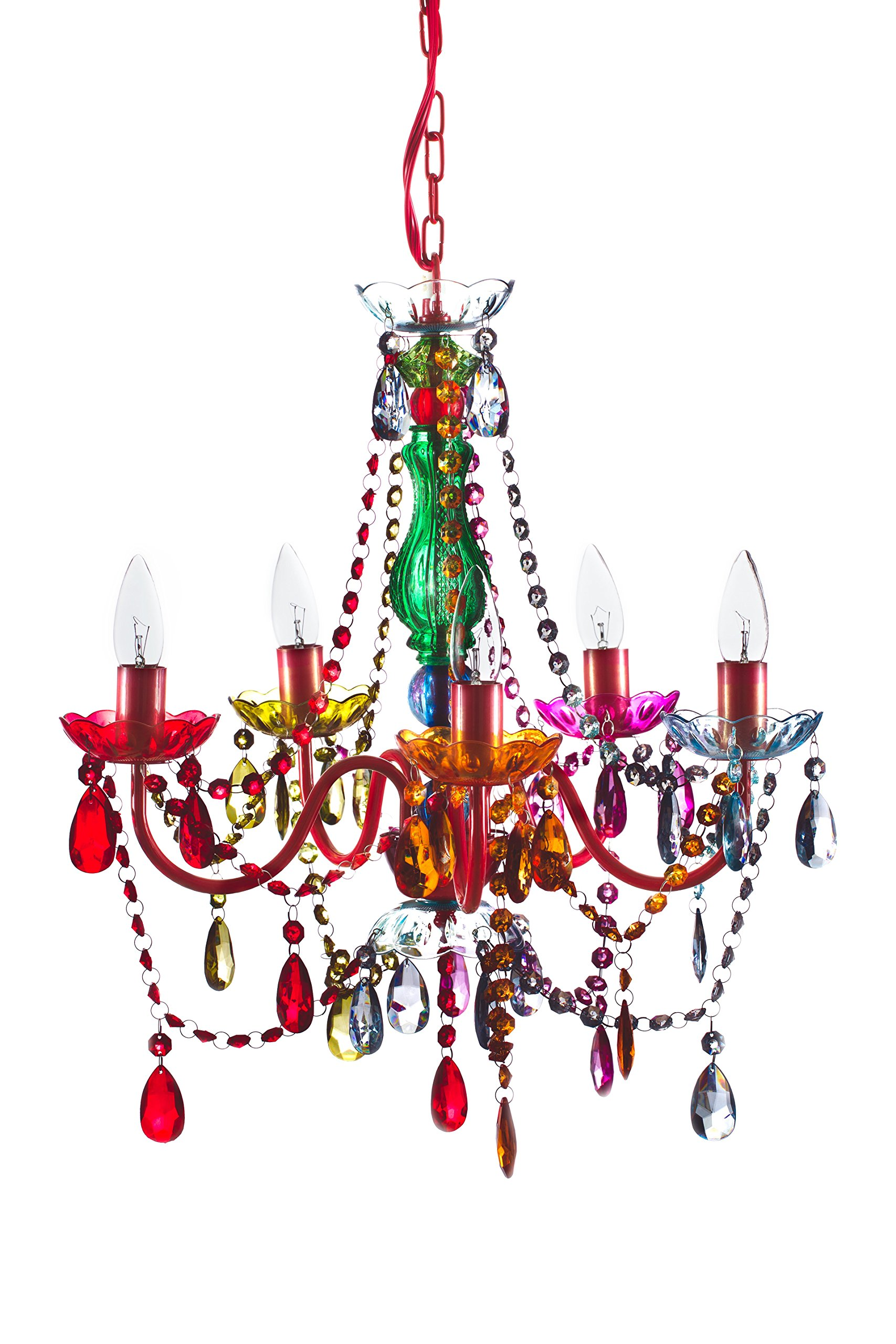 Original gypsy chandelier color 5 light medium multi color acrylic original gypsy chandelier color 5 light medium multi color acrylic crystals red aloadofball Image collections