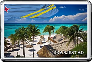 ORANJESTAD FRIDGE MAGNET 002 THE CITY OF ARUBA REFRIGERATOR MAGNET