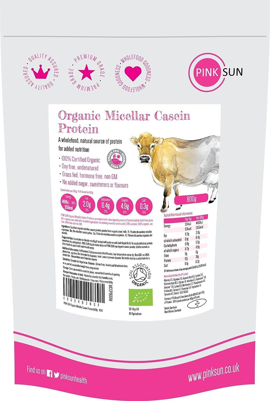 Pink Sun Organic Micellar Casein Protein Powder