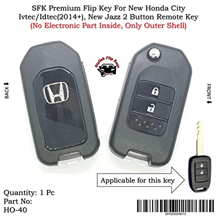 Sfk Premium Flip Key For New Honda City Ivtec Idtec And New Jazz 2
