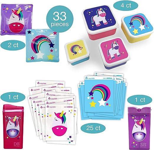NEW So-Mine KIDS 25 Recyclable Unicorn /& Rainbow Sandwich Snack Bags 6.25/'/'x 8/'/'