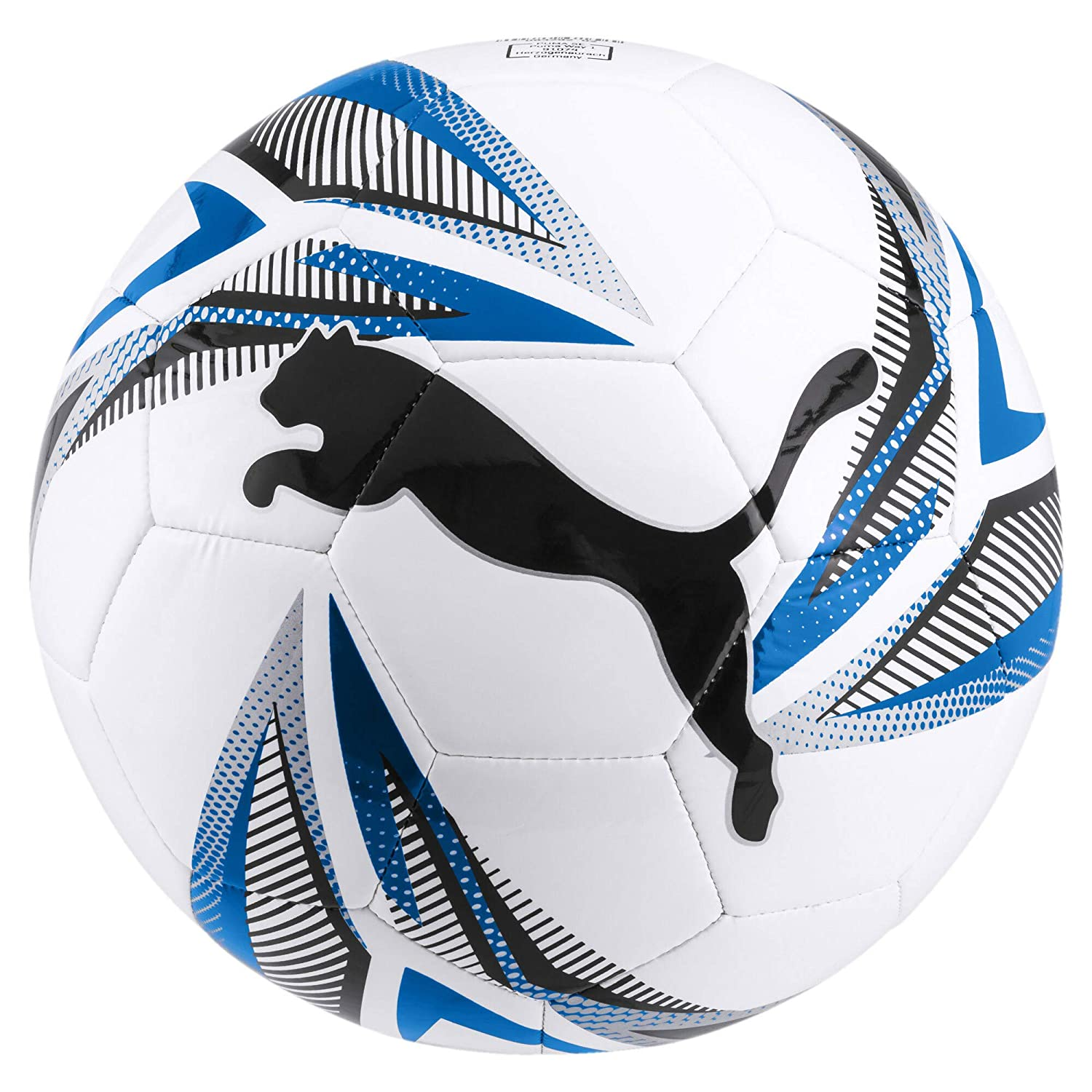 PUMA ftblplay Big Cat - Balón de fútbol, Color Blanco-Negro-Azul ...