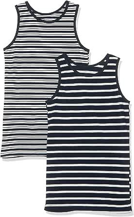 NAME IT Camiseta sin Mangas (Pack de 2) para Niños