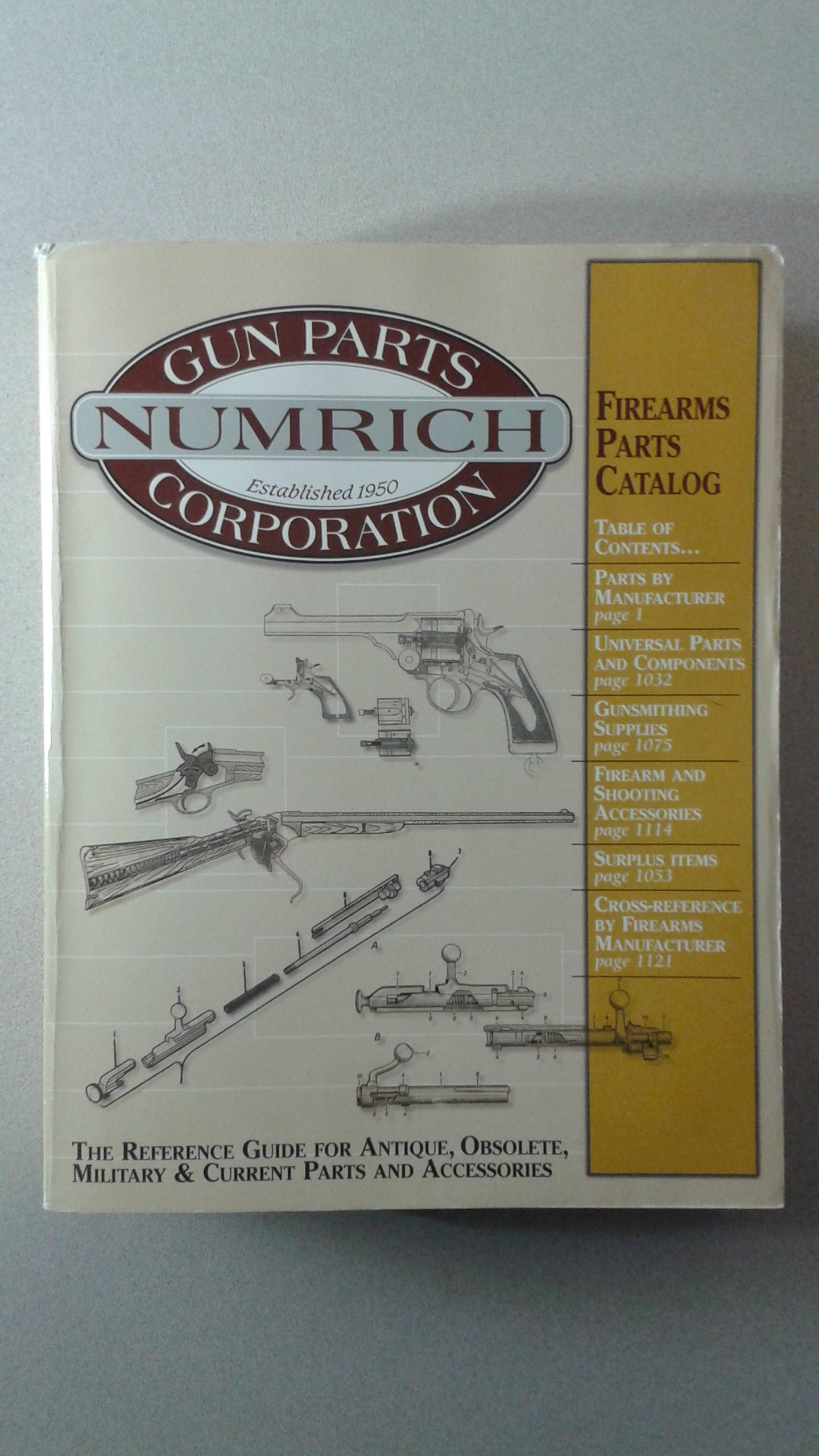 The Reference Guide for Antique, Obsolete, Military and Current Parts and  Accessories (Firearms Parts Catalog #22): Numrich Gun Parts Corp.