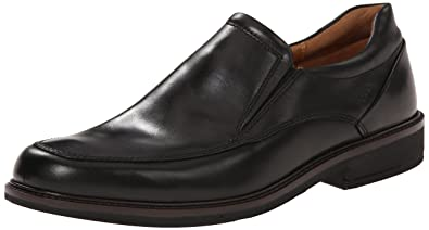 ECCO Men's Holton Apron Toe Slip On, Black, 39 EU/5-5.5