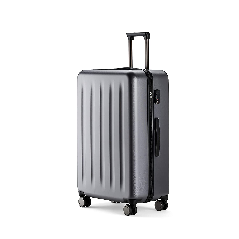 90FUN Trolley bagaglio a mano I Valigia rigida con lucchetto TSA I 55,5 x 37,5 x 22,3 cm I piccolo blu