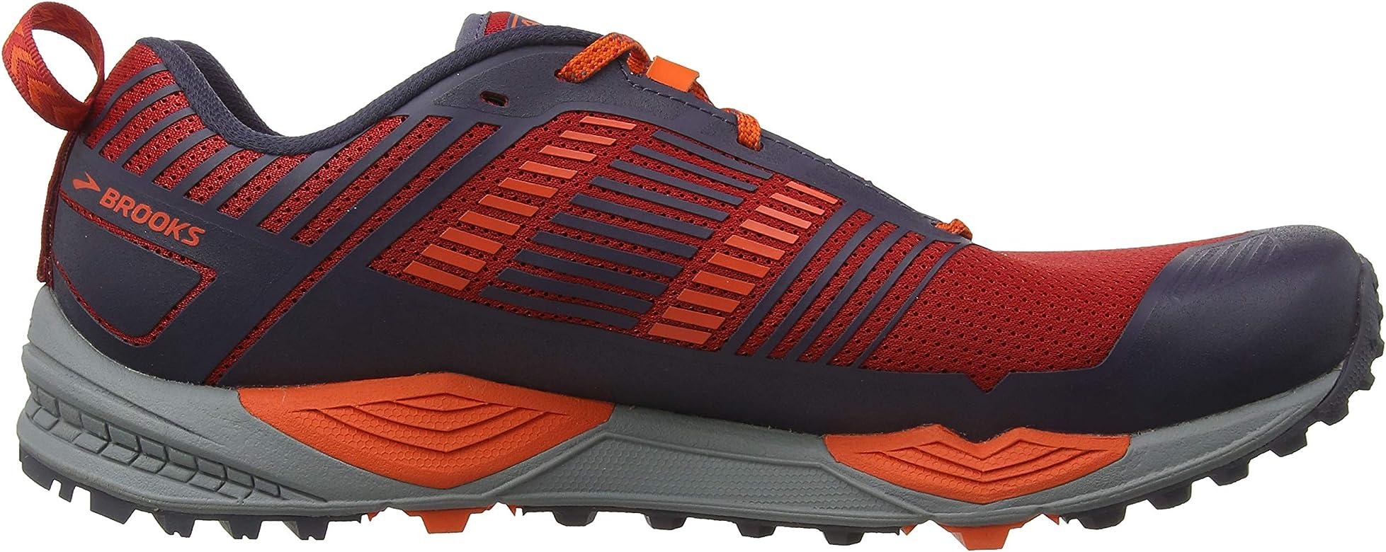 Brooks Cascadia 13, Zapatillas de Cross para Hombre, Rojo (Red/Orange/Grey 636), 41 EU: Amazon.es: Zapatos y complementos