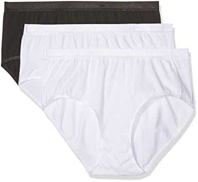 a6610ef8c Ulla Popken Women s Plus Size 3-Pack High Leg Pretty Panties 309783 at  Amazon Women s Clothing store