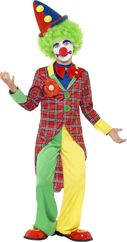 Smiffy's-44011M Miffy Disfraz de Payaso, con Chaqueta, pantalón, Falsa Camisa y Pajarita, Color Rojo, M-Edad 7-9 años (44011M)