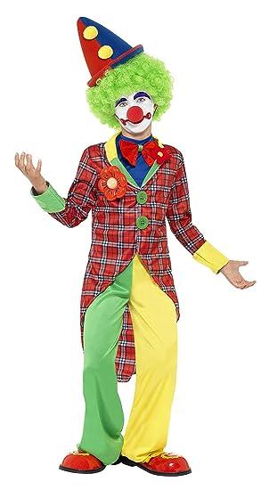 Smiffys Kinder Clown Kostum Jacke Hose Und Mock Hemd Mit Fliege