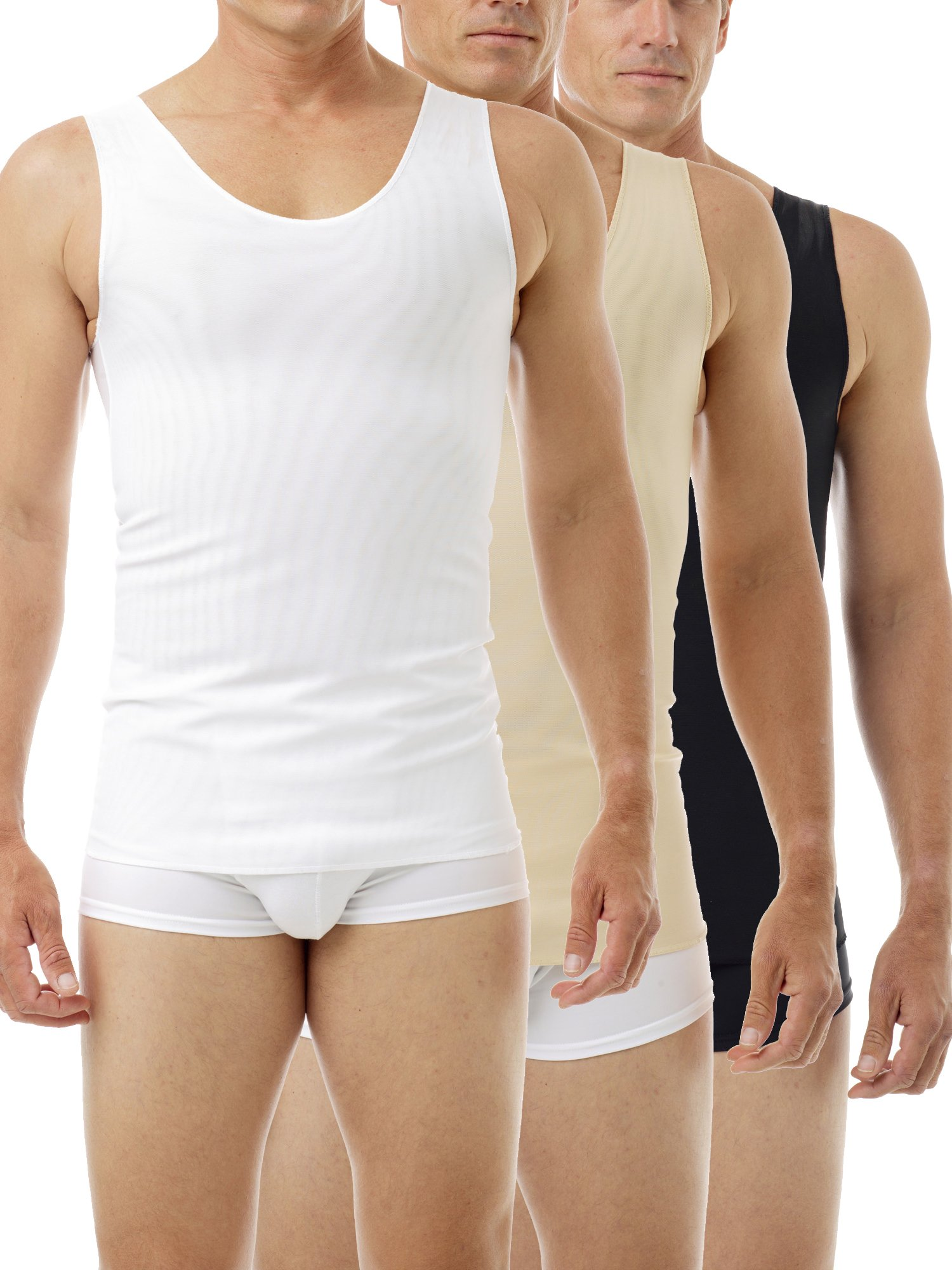 Underworks FTM Gynecomastia Ultimate Chest Binder Tank 997 - Black-Nude-White X-Small