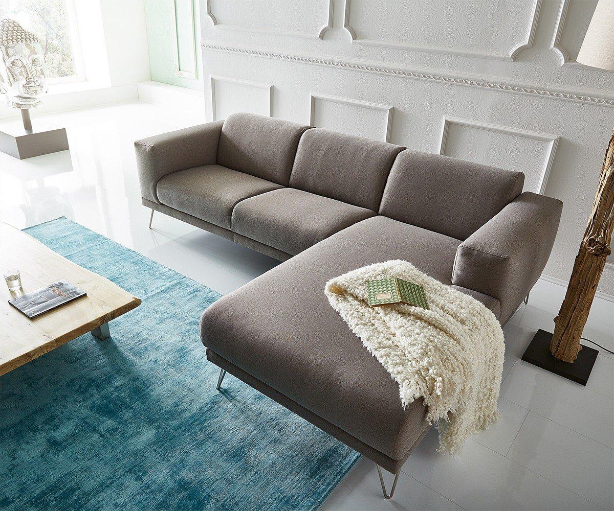 DeLife Esquina Couch lordina Gris 260 x 185 cm Estilo ...