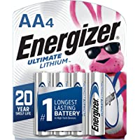 Energizer L91SBP-4 AA Batteries Ultimate Lithium (4 Count), (Pack of 1)