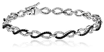 view jewelry infinity bangle product collection silver sterling zoom reflections tj bracelet diamond