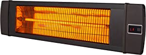 Dr. Infrared Heater 1500W carbon infrared heater indoor outdoor patiogaragewall or ceiling Mount with remote, black