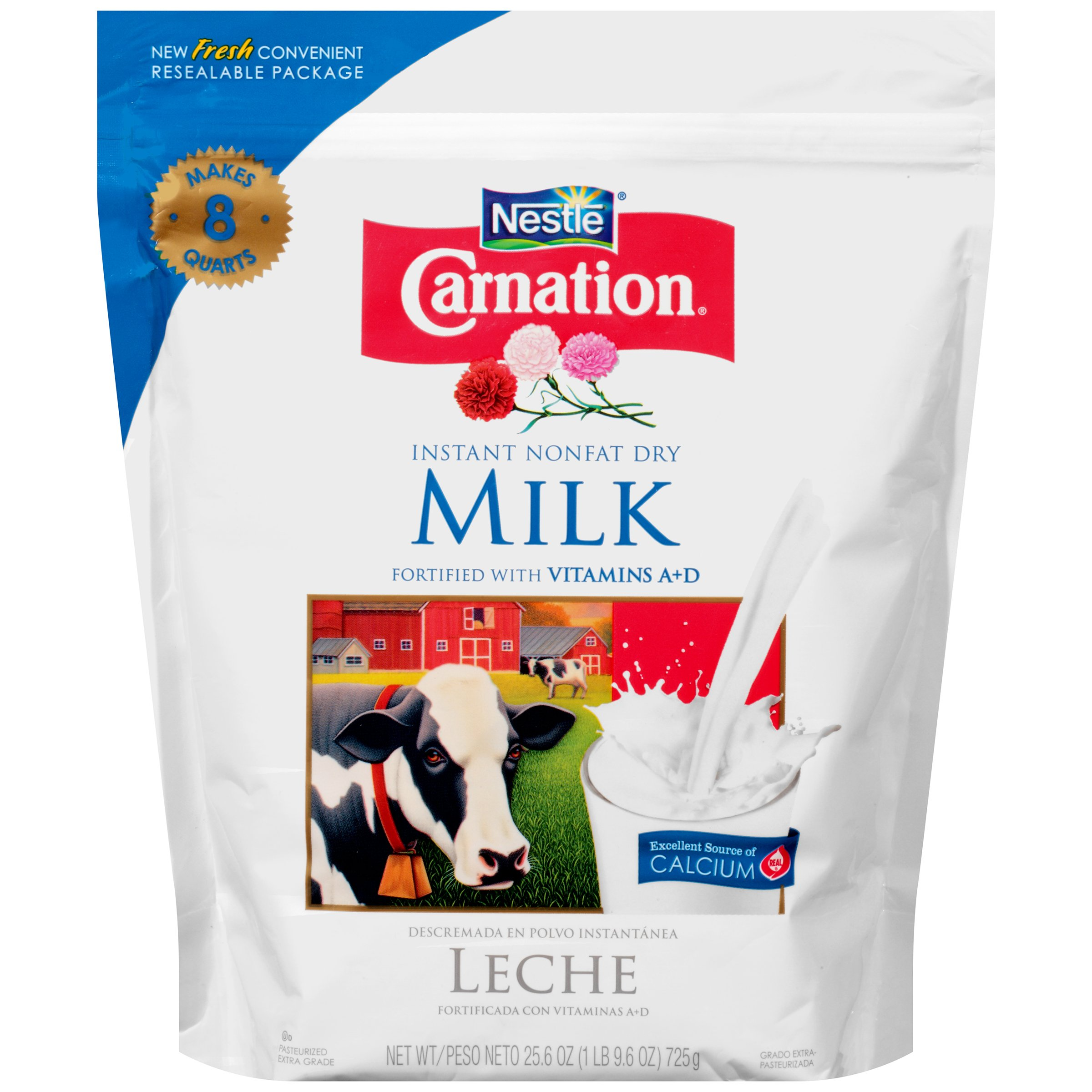 With what do dry milk