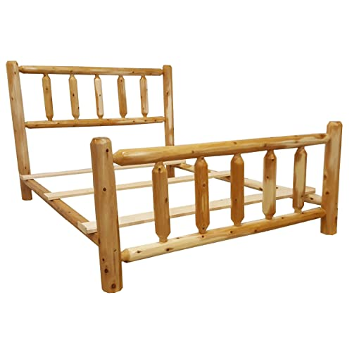 Wood Log Bed Frame Amazon Com