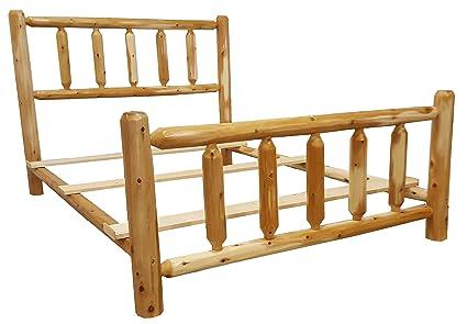 Amazon.com: Michigan Rustics Rustic Log Bed Twin, Full, Queen, King ...