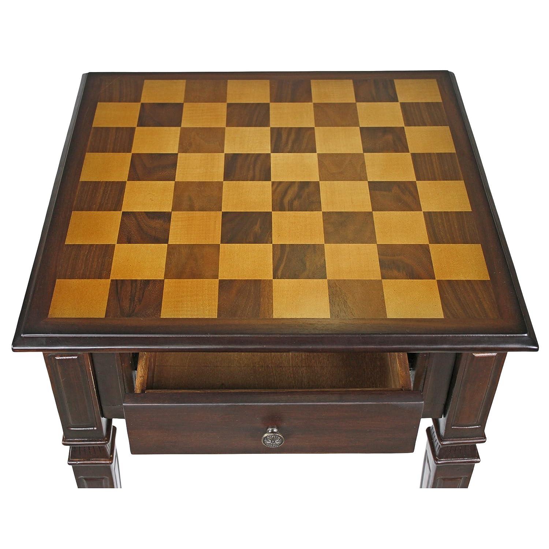 Amazon design toscano walpole manor gaming chess table home amazon design toscano walpole manor gaming chess table home kitchen geotapseo Image collections