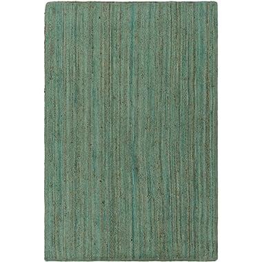 Surya Natural Fiber Rectangle Area Rug 5'x7'6  Green-Brown Brice Collection
