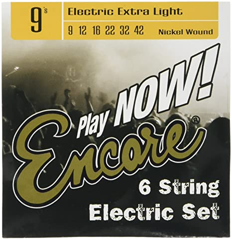 Encore - Cuerdas para guitarra (calibre Extra Light, 9 unidades)
