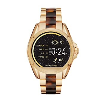 Michael Kors Access Unisex 45mm Goldtone and Acetate Bradshaw Touchscreen Smartwatch
