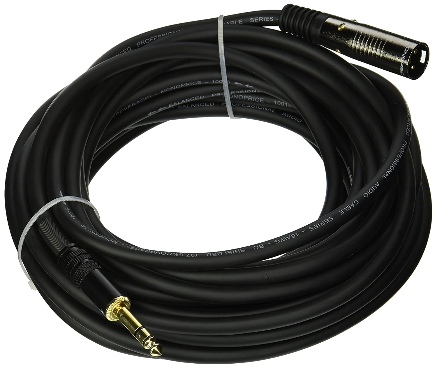 Monoprice 6ft Premier Series Xlr Male To 1 4inch Trs Rca Unbalanced Balanced Wiring Further Microphone Cable 16awg Gold Plated Home Audio Theater