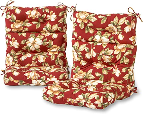 Greendale Home Fashions AZ6809S2-ROMAFLORAL Tuscan Floral Outdoor High Back Chair Cushion Set of 2