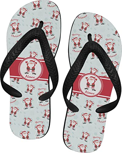 56cede0e9597 RNK Shops Santa Claus Flip Flops - XSmall (Personalized) Red