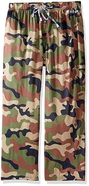 Grande y alto sueño pantalón Camo Stacy Adams hombre, verde militar, 2XL