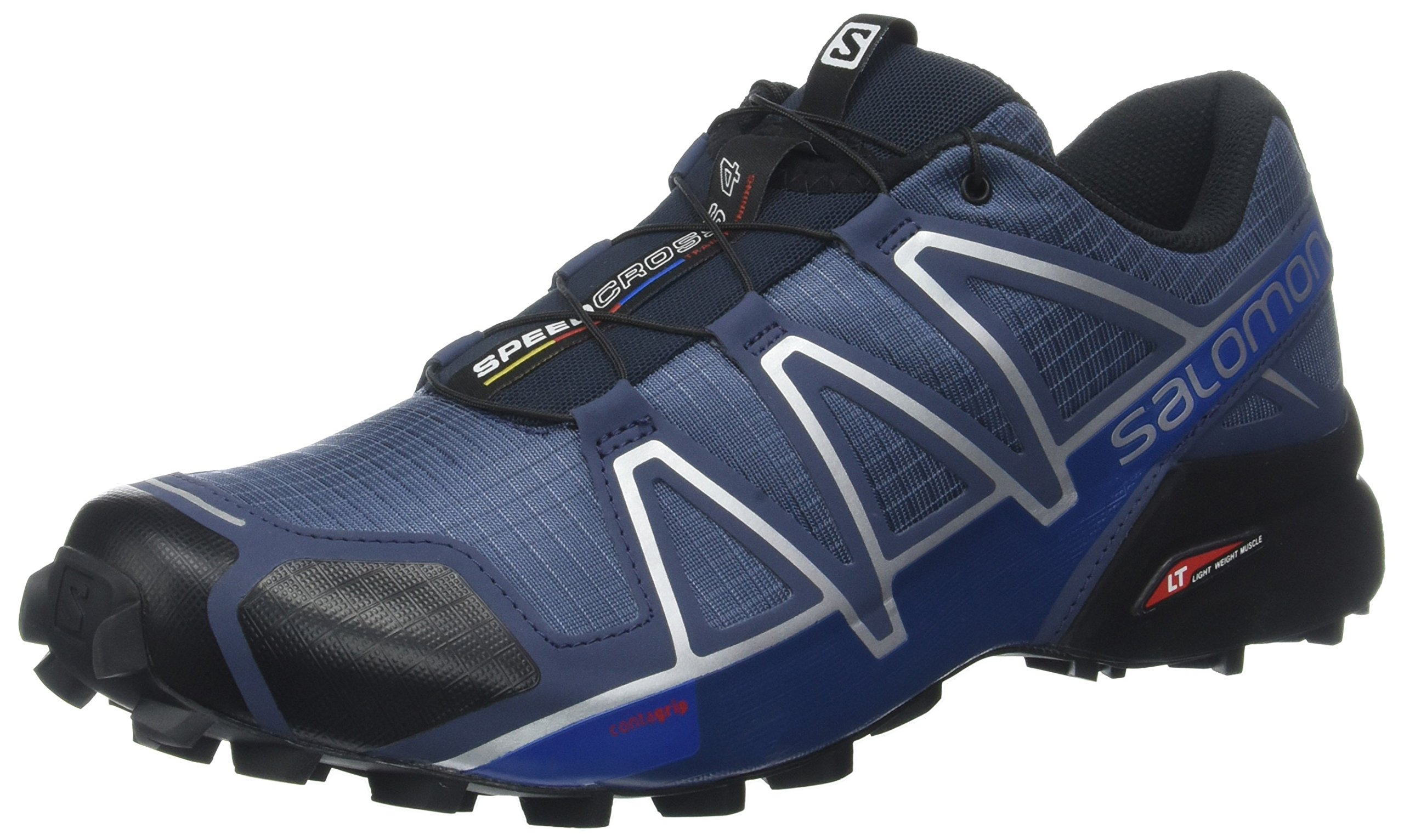 Salomon Men's Speedcross 4 Trail Runner, Slate Black/Blue Yonder, 11.5 D US