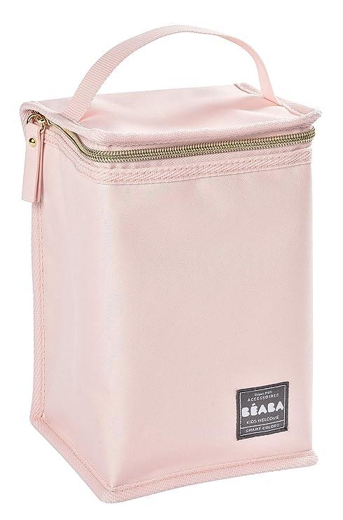 Beaba - Bolsa isotérmica para comida, color rosa y oro rosa ...