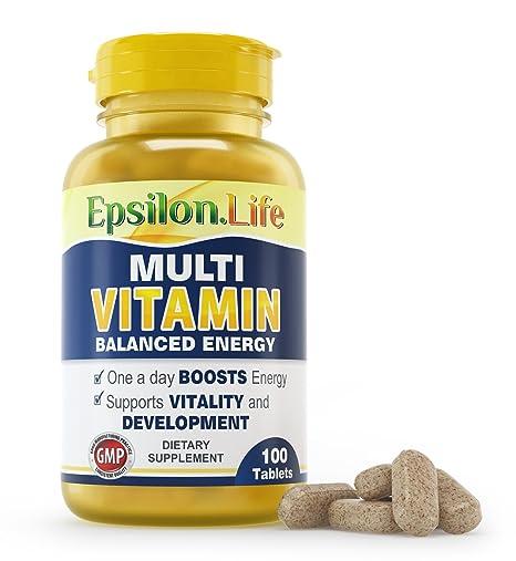 ... Fórmula Equilibrada Para Aumentar la Energía y la Vitalidad - Multivitamínico - Polivitamínico - Vitaminas: Amazon.es: Salud y cuidado personal