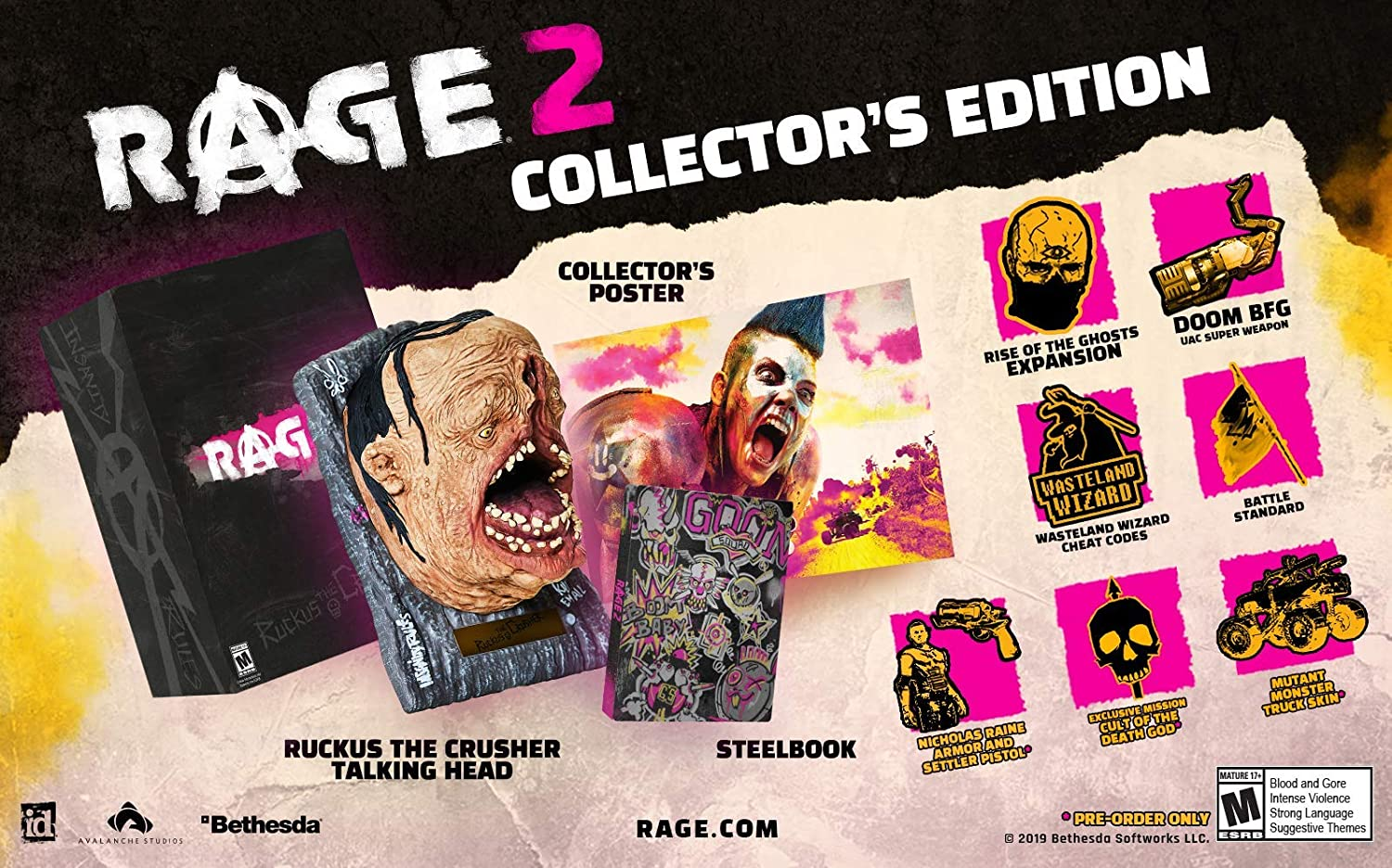 422302d1ab46 Amazon.com  Rage 2 Collector s Edition - PlayStation 4  Bethesda Softworks  Inc  Video Games
