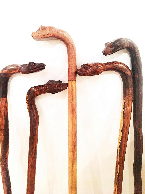 Walking Cane Hiking Stick Hand carved Ironwood (palo fierro