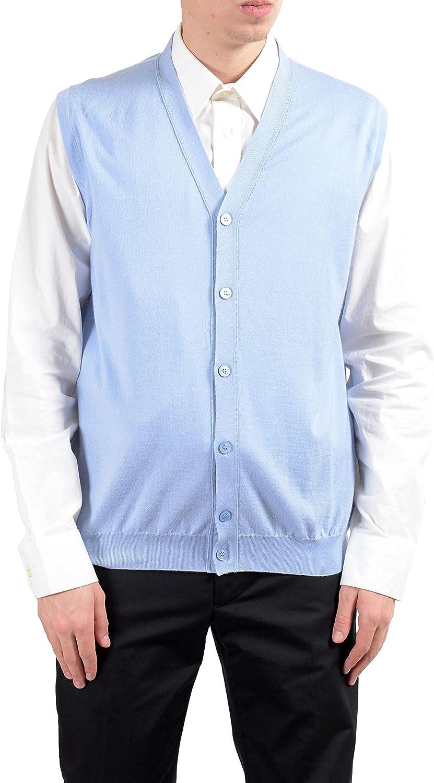 New $215 KITON NAPOLI Medium Blue-White Basketweave Print Silk Pocket Square