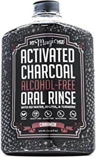 product image for My Magic Mud - Activated Charcoal Oral Rinse, Freshens Breath, Soothes Mouth, Cinnamon, 420 ml